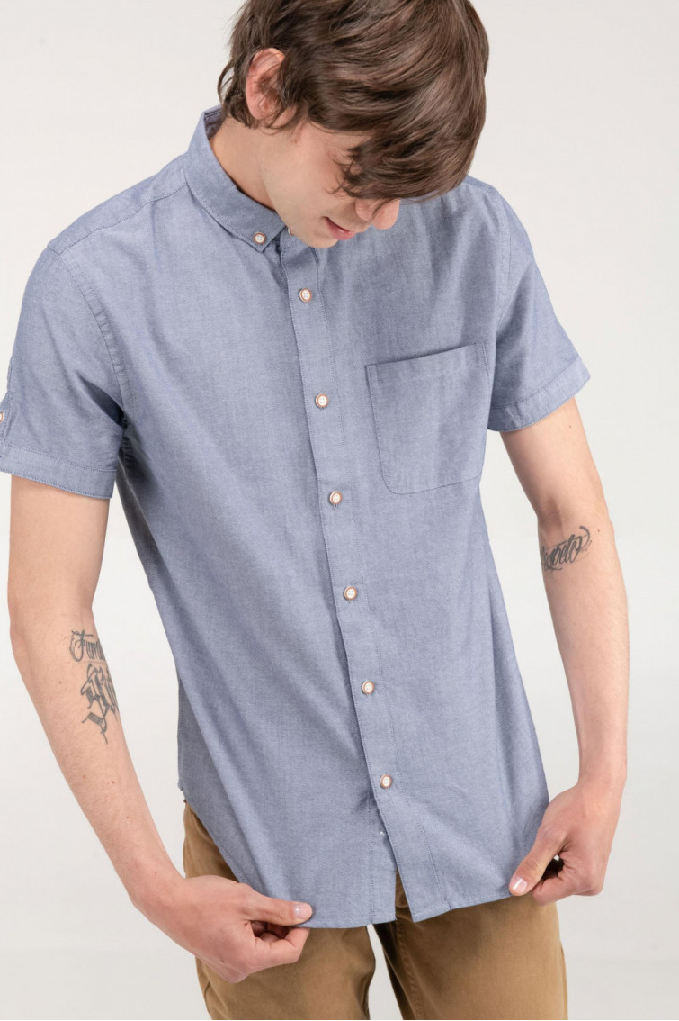 CAMISA GRIS BUTTON DOWN