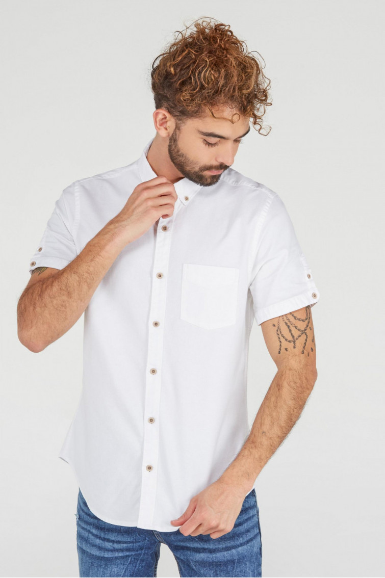 CAMISA BUTTON DOWN MANGA CORTA