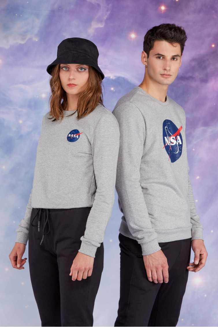 BUZO GRIS NASA UNICOLOR