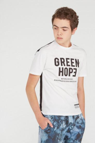 CAMISETA BLANCA GREEN HOPE