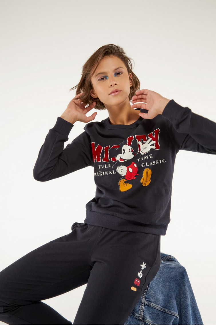 BUZO CUELLO REDONDO ESTAMPADO MICKEY MOUSE
