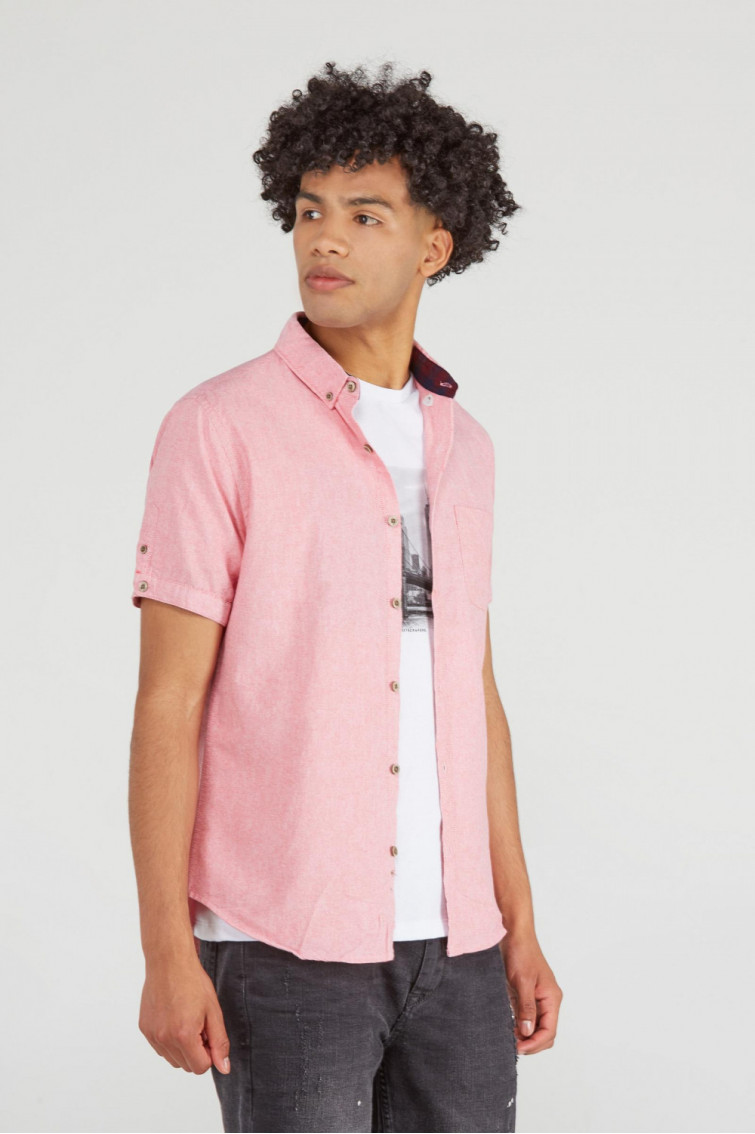 CAMISA ROSA BUTTON DOWN