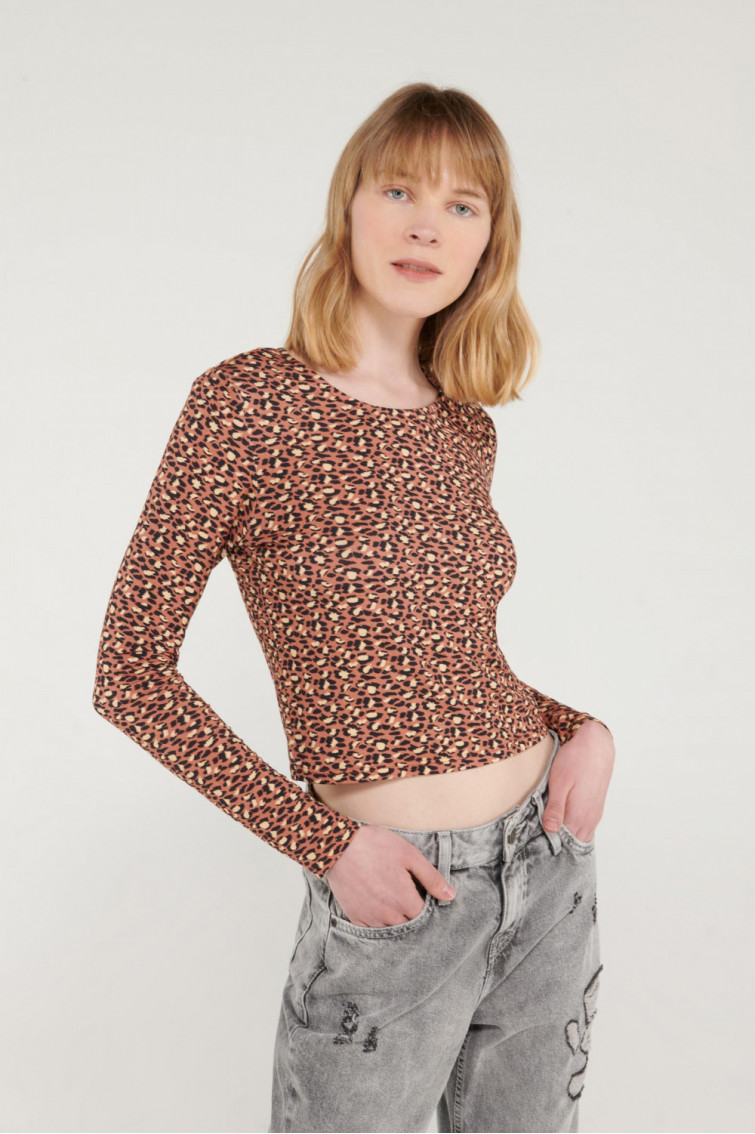 CAMISETA ANIMAL PRINT MANGA LARGA