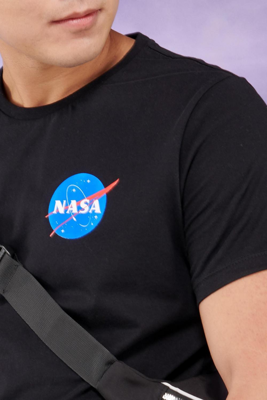 Camiseta manga corta con estampado Nasa