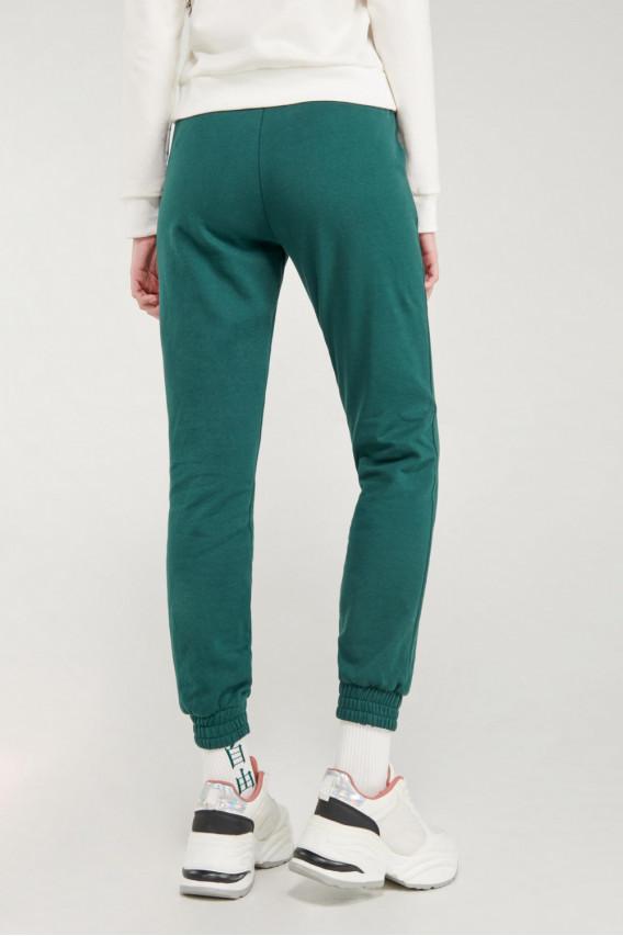 Pantalon jogger, unicolor, con bolsillos en costado