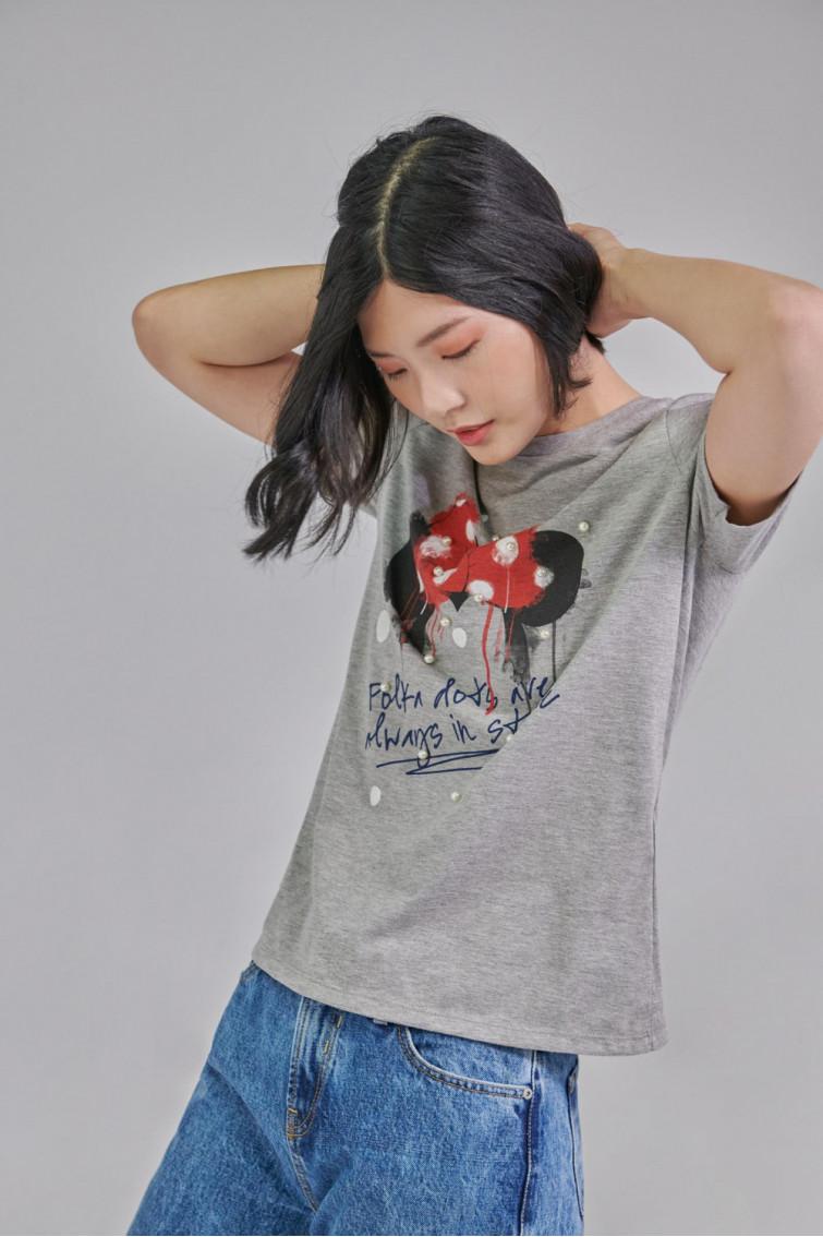 Camiseta estampada manga corta de Disney.