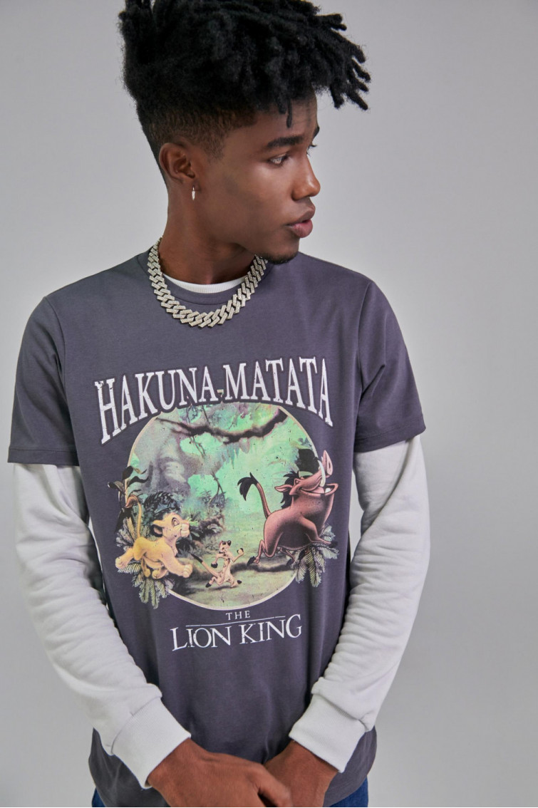 Camiseta manga corta con estampado en frente de Disney