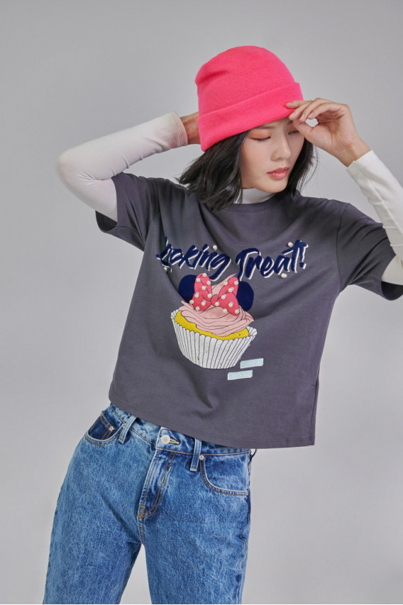 Camiseta estampada manga corta Minnie.