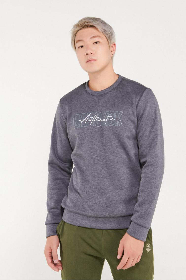 Suéter cuello redondo estampado