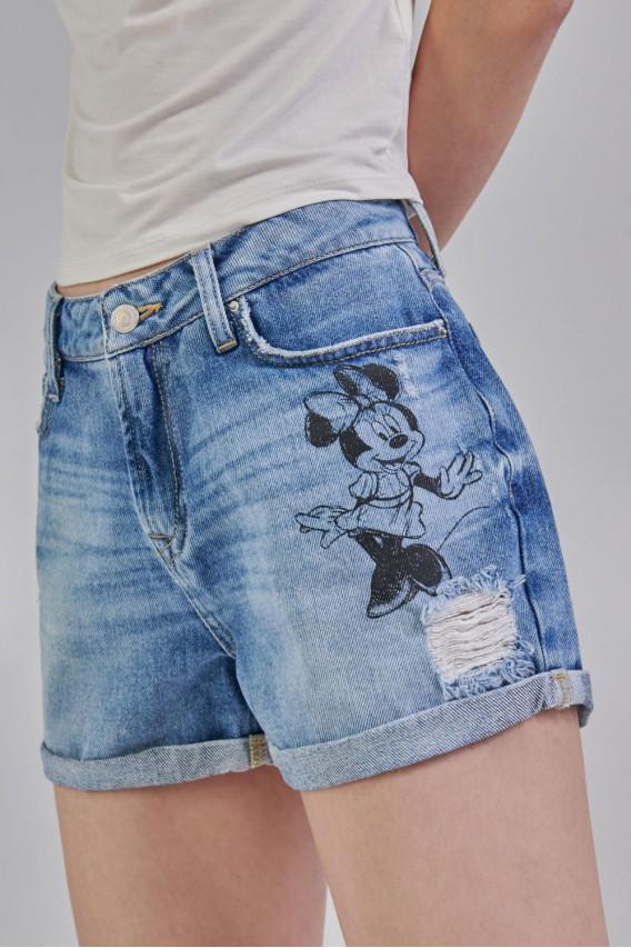 Short denim Minnie