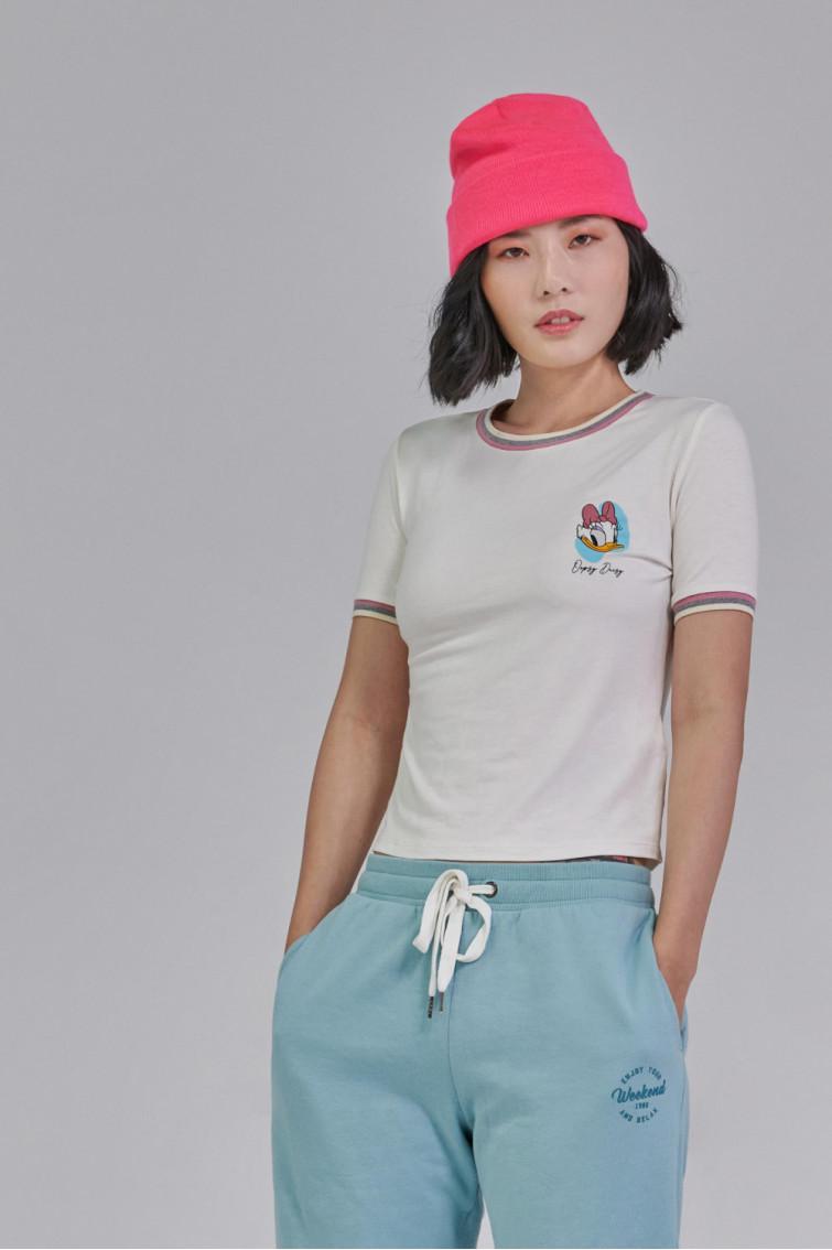 Camiseta estampada manga corta de Disney con rectilíneos.