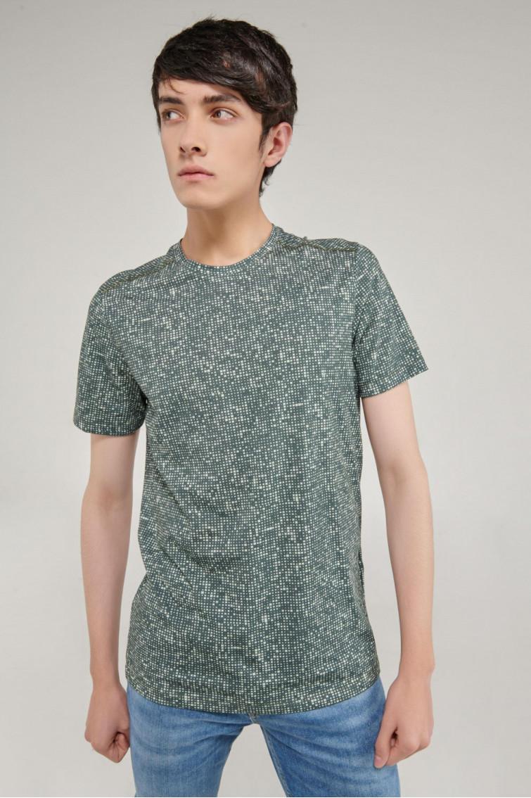 Camiseta manga corta con estampado digital
