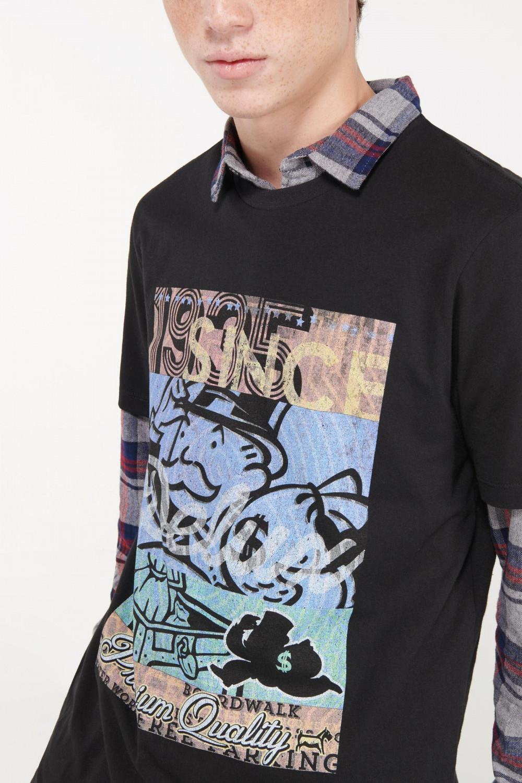 Camiseta moda manga corta estampado Monopolio.