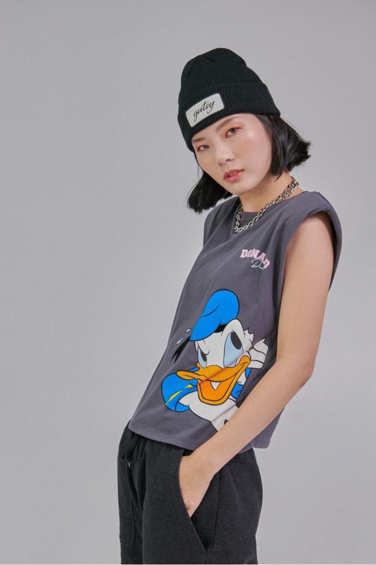 Camiseta con hombreras estampada de Disney.
