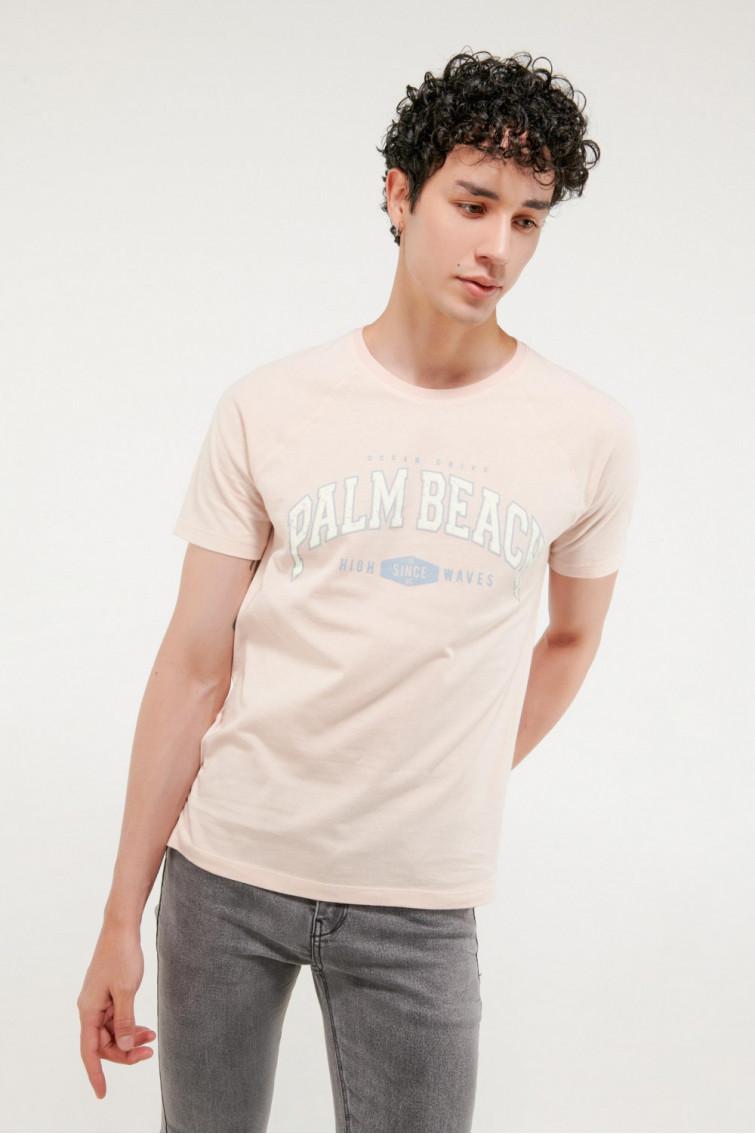 Camiseta manga ranglan estampada