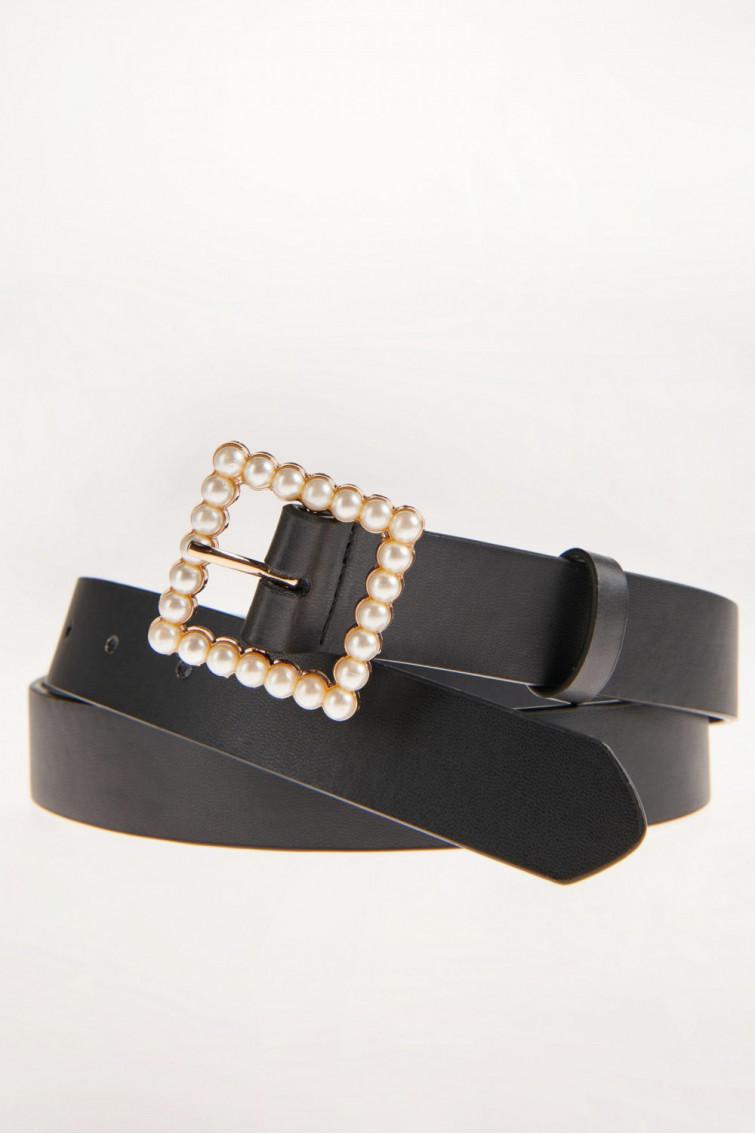 Cinturon hebillas con perlas
