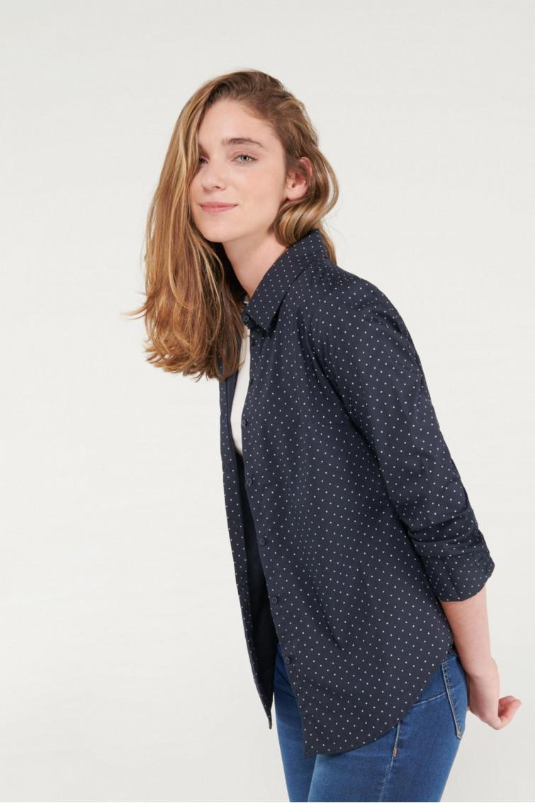 Blusa ajustada estampada