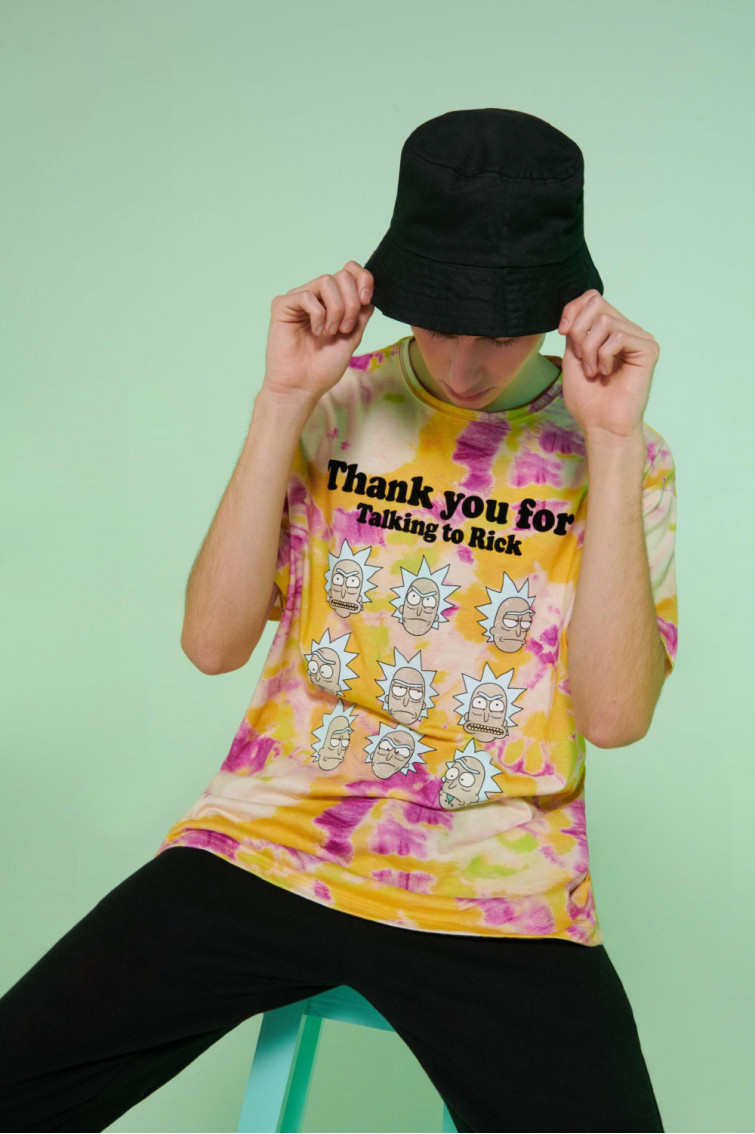 Camiseta manga corta licencia Warner, Rick & Morty.