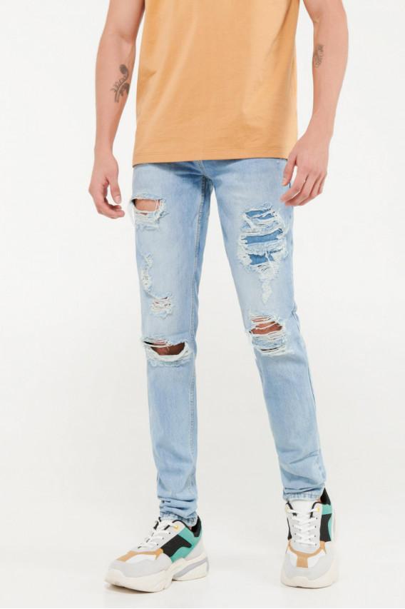 Jean skinny roto