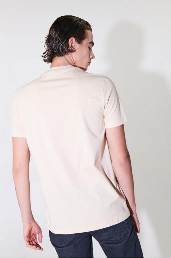 Camiseta manga estampado Tiburon.