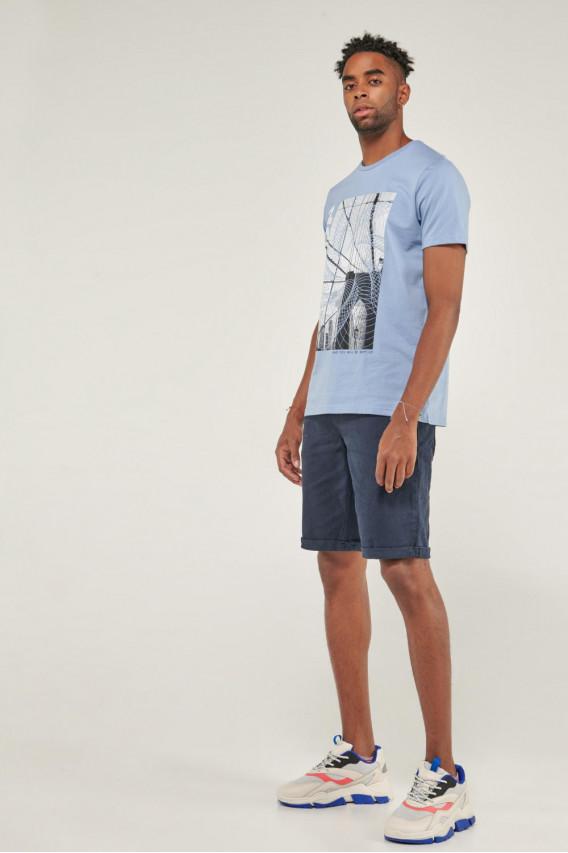 Camiseta manga corta con estampado frente