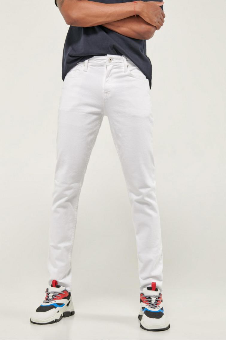 Pantalon unicolor slim