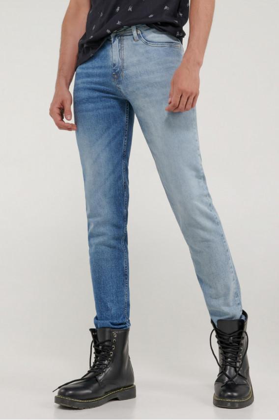 Jean skinny contraste