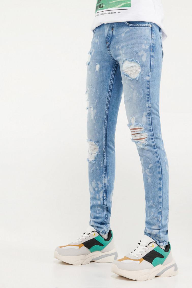 Jean skinny proceso lavado
