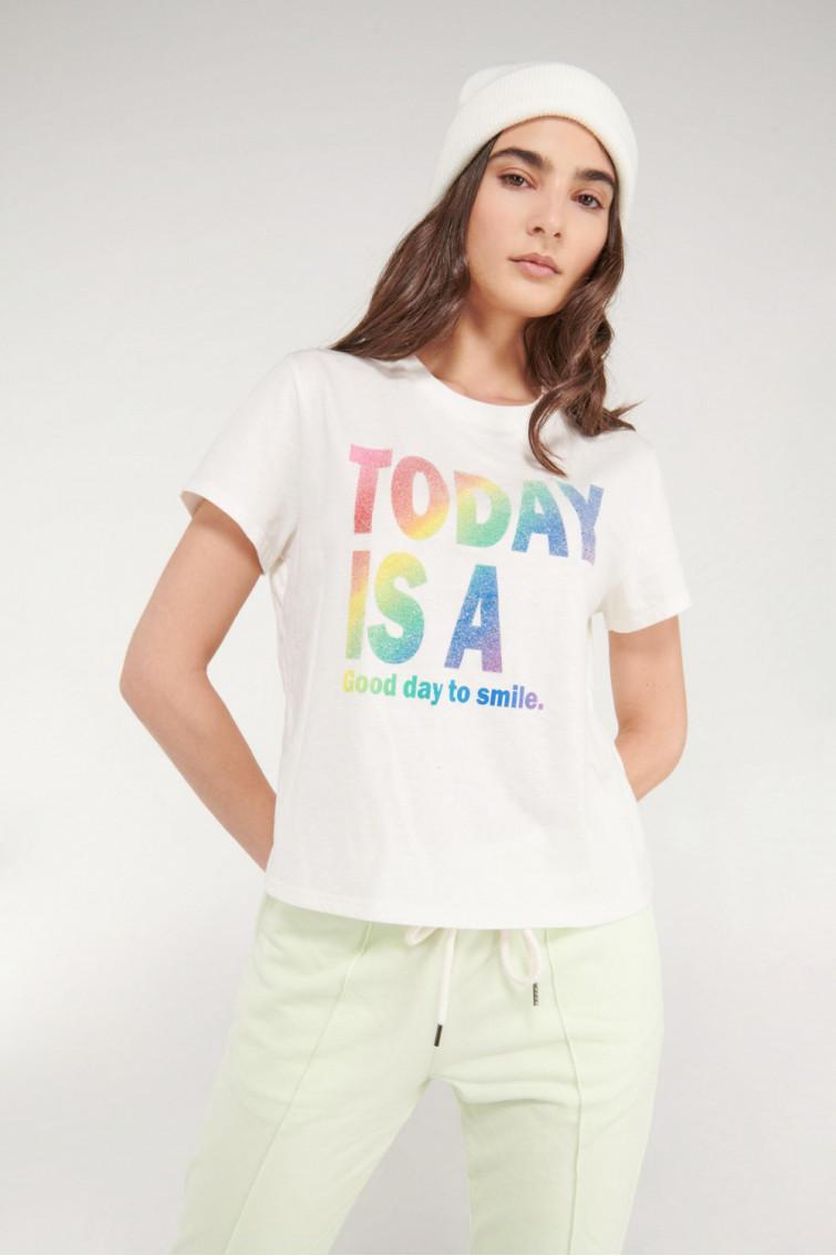 Camiseta manga corta con estampado