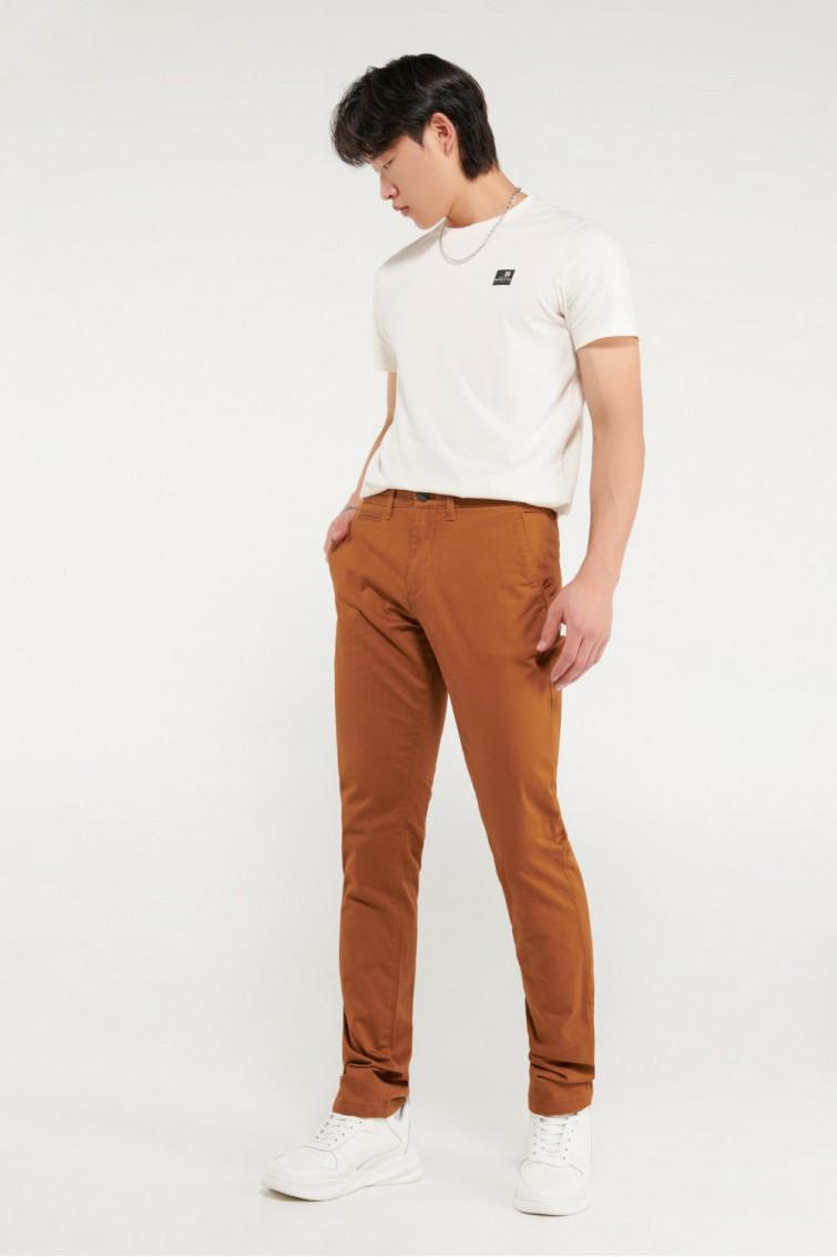 Pantalon super slim unicolor