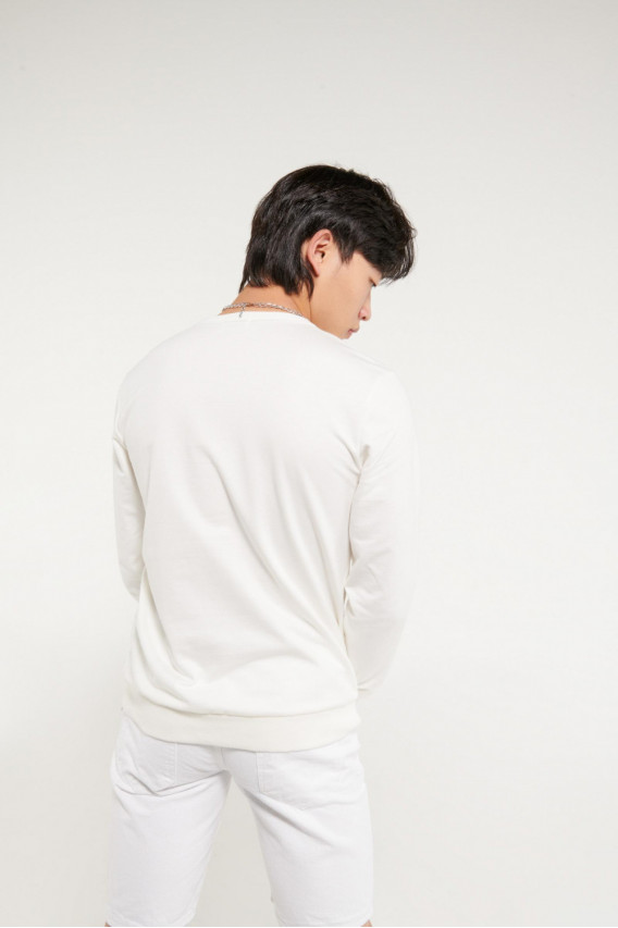 Buzo cuello redondo estampado