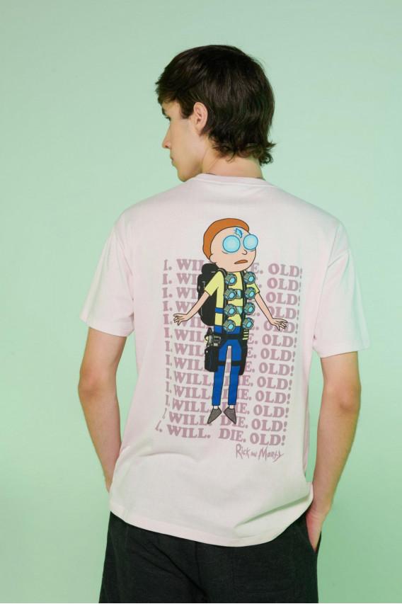 Camiseta manga corta con estampado de Rick & Morty.