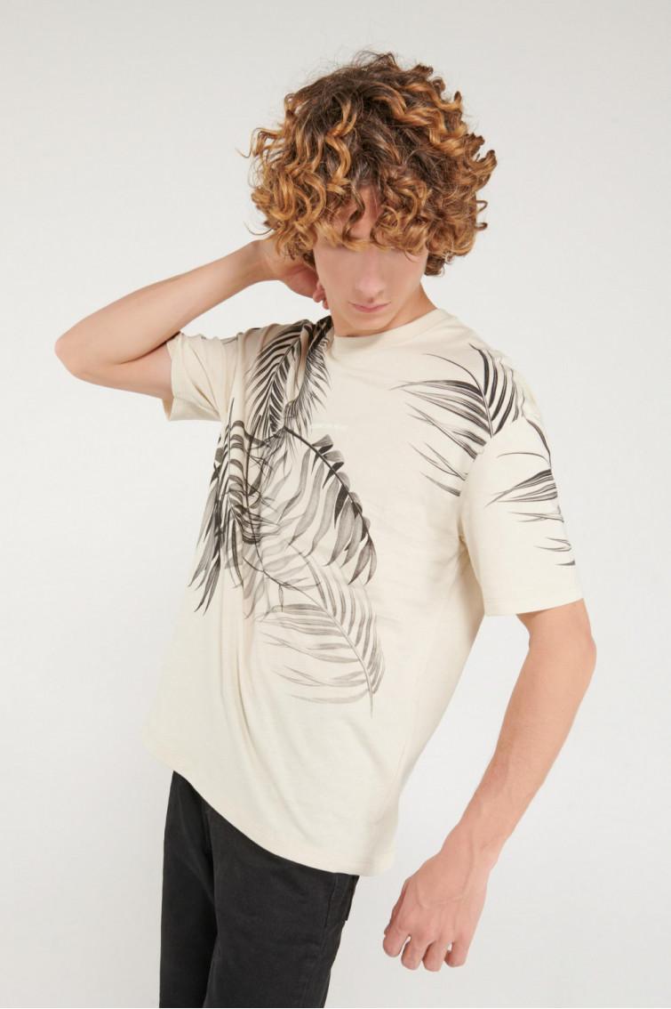 Camiseta manga corta cuello redondo con estampado