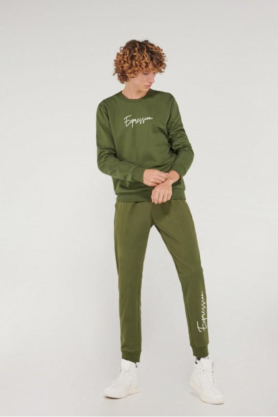Jogger estampado loungewear.
