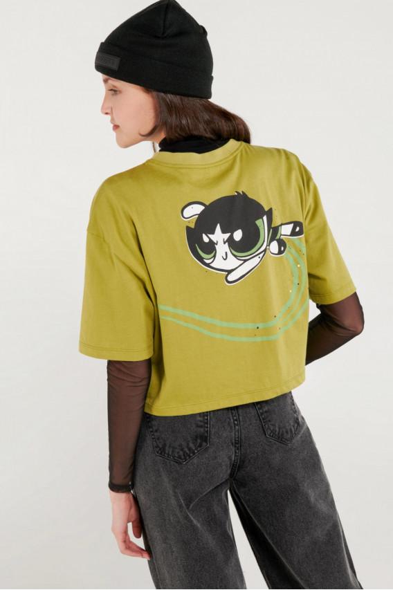 Camiseta manga corta, estampado de Chicas Super Poderosas