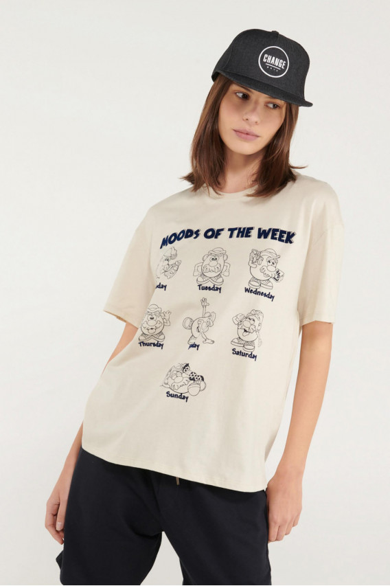 Camiseta manga corta estampada licencia Hasbro, Mr. Potato Head.