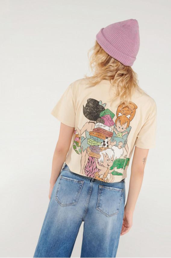 Camiseta manga corta con estampado de Los Picapiedra