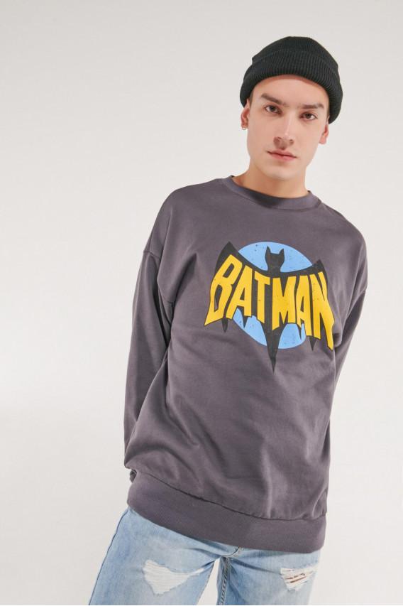 Buzo cuello rendondo con estampado frente Batman