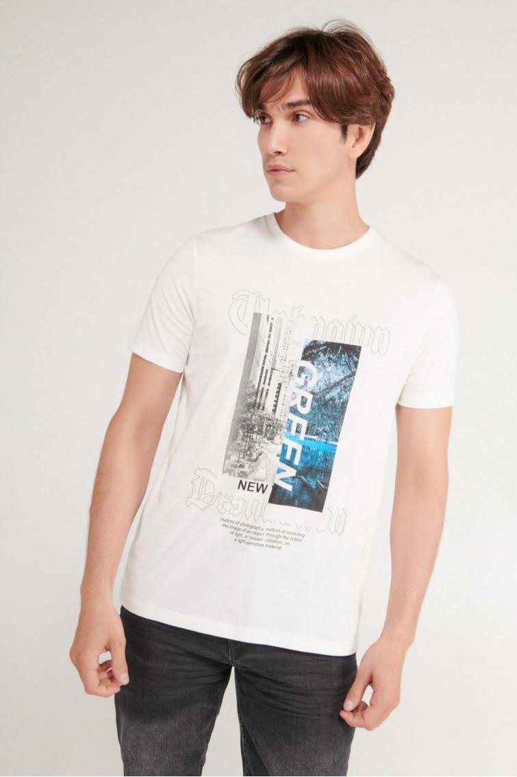 Camiseta manga corta estampado frente