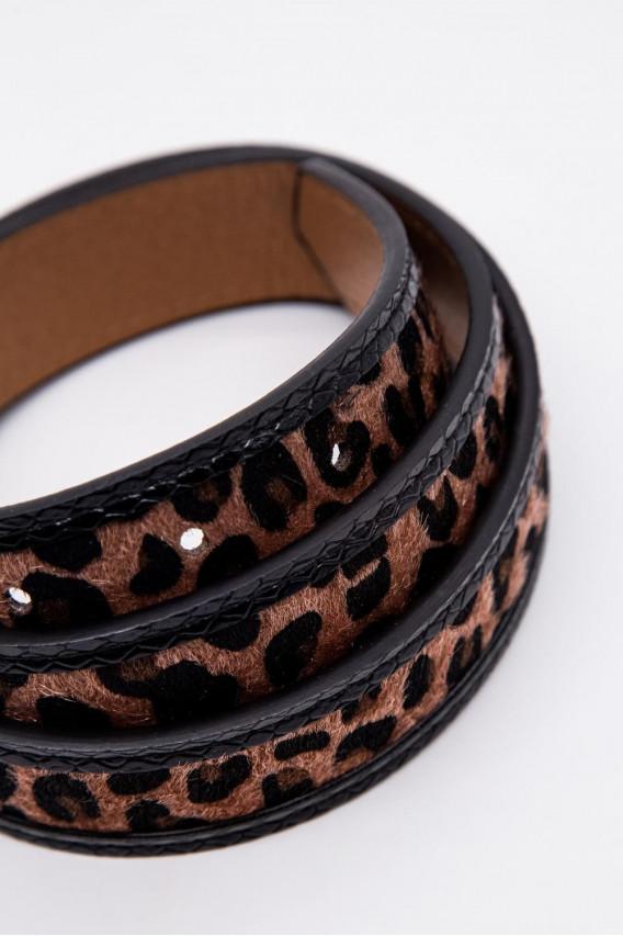 Cinturón animal print.