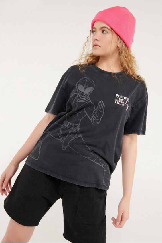 Camiseta manga corta estampada licencia Hasbro, Power Ranger.