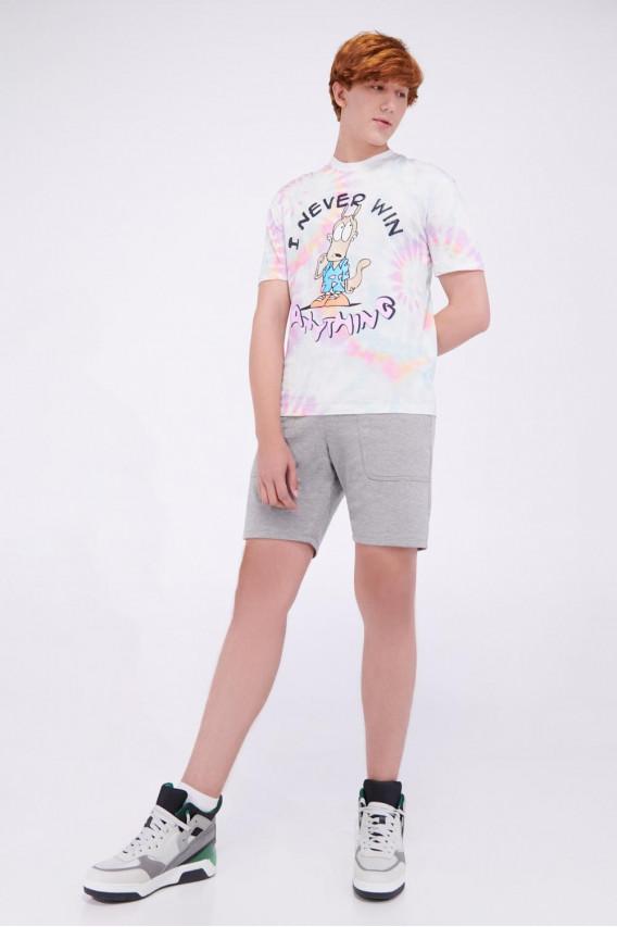 Camiseta manga corta estampado de La Vida moderna de Rocko.