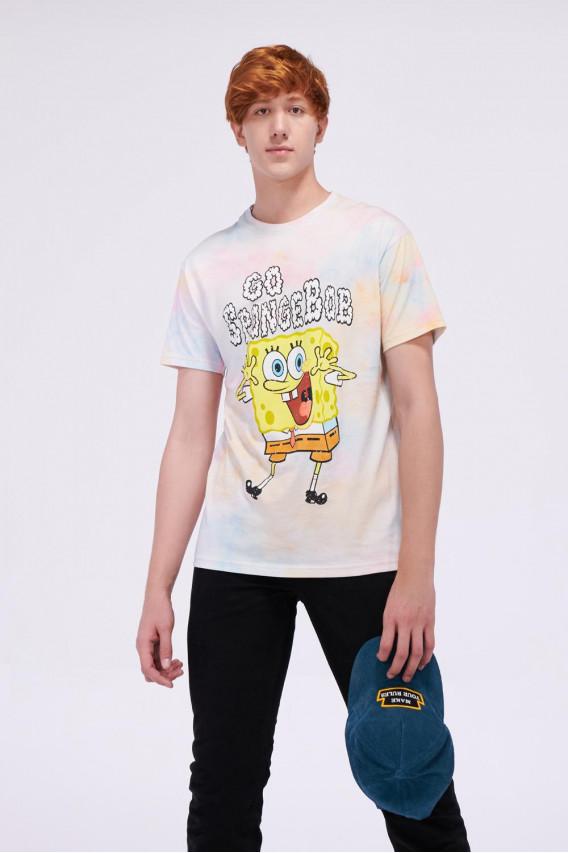 Camiseta manga corta estampado de Bob Esponja