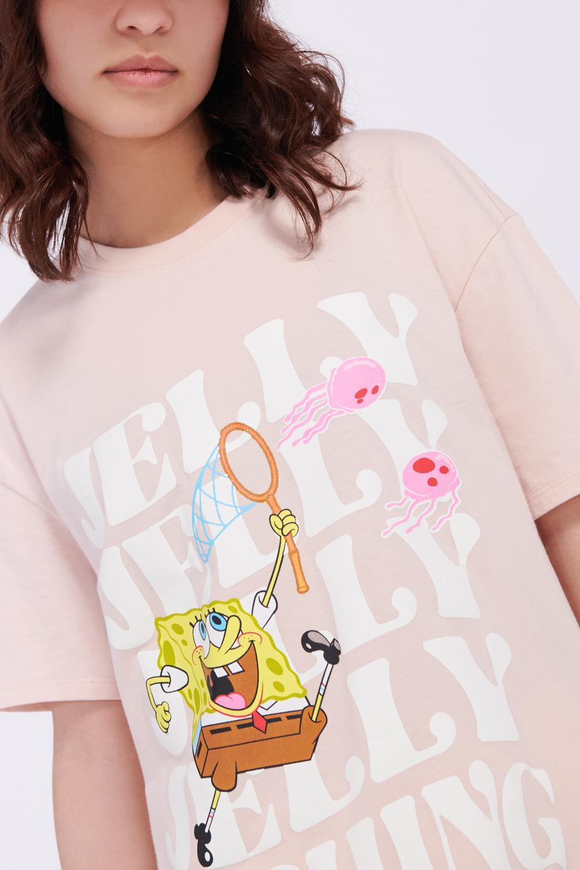 Camiseta manga corta estampado de Bob Esponja.
