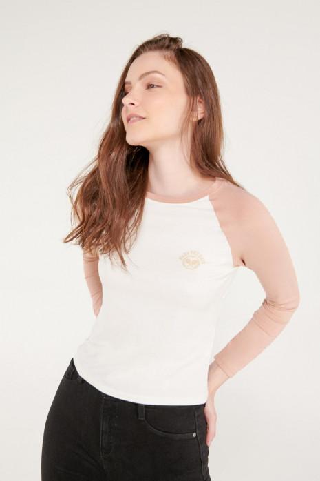 Camiseta manga larga con estampado en frente