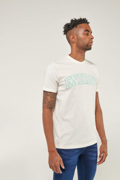 Camiseta manga corta estampada