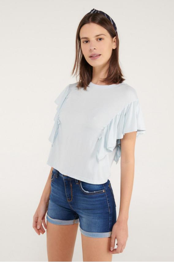 Camiseta manga corta con boleros.