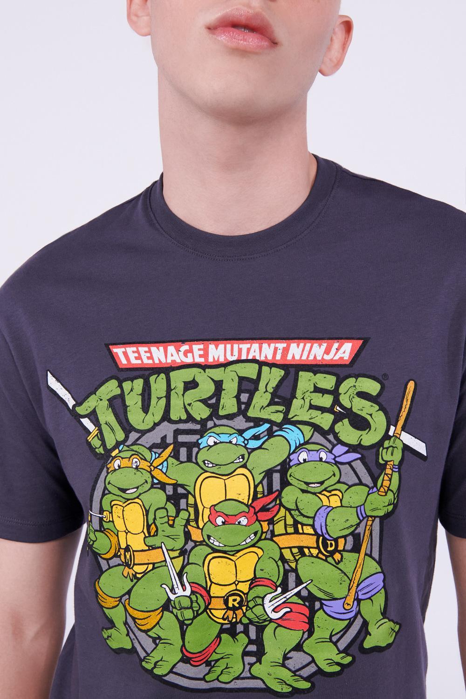 Camiseta manga corta estampado de Tortugas Ninja