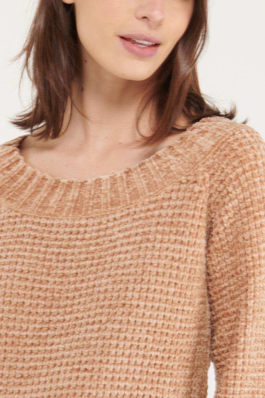 Suéter cuello bandeja unicolor