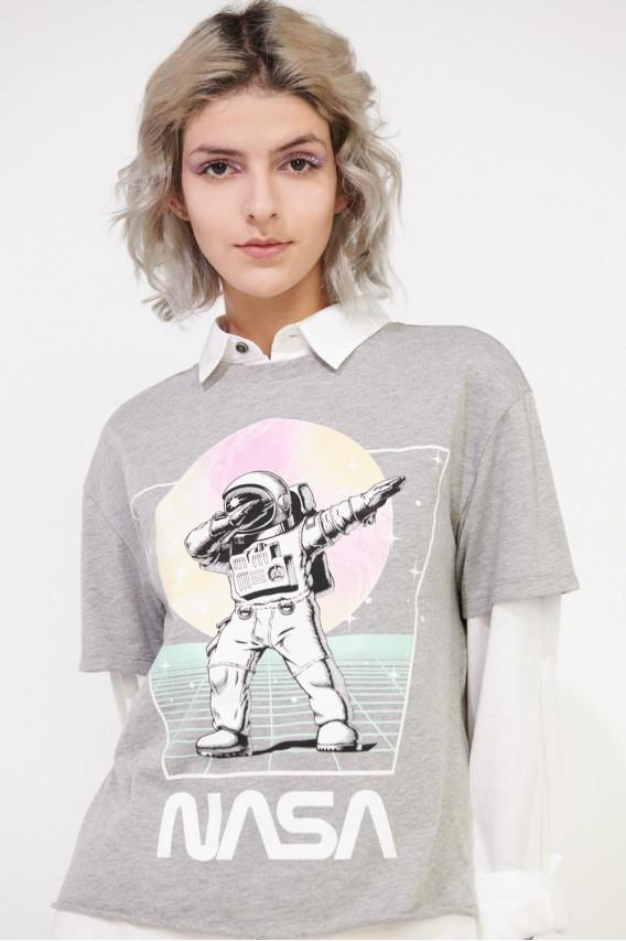 Camiseta manga corta estampada de NASA